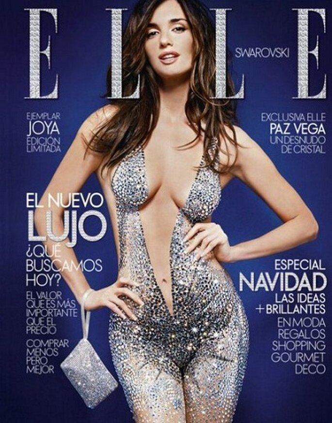 Foto: Paz Vega sulla copertina di una edizione limitata della rivista Elle Spagna con Swarovski