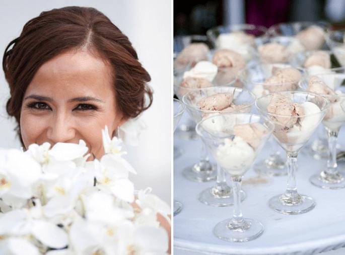 Porque servir sorbete en el banquete de boda. Fotografía  Evgenia Kostiaeva