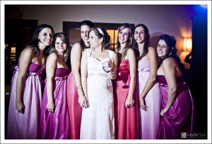 Damas de boda en colores neon. Fotografîa Layla Eloa