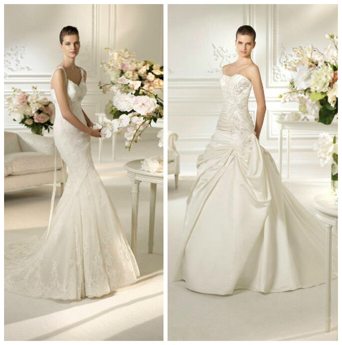 atłasowa suknia ślubna