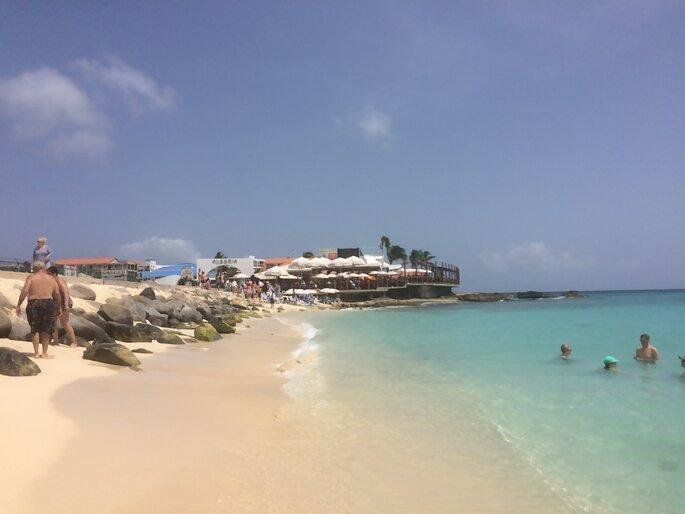 Photo : Mademoiselle Soleil - Maho beach