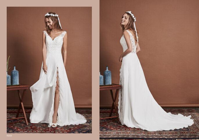 Priam Paris - un modèle posant dans l'une des sublimes robes So Lovely 2021 de la boutique Priam Paris