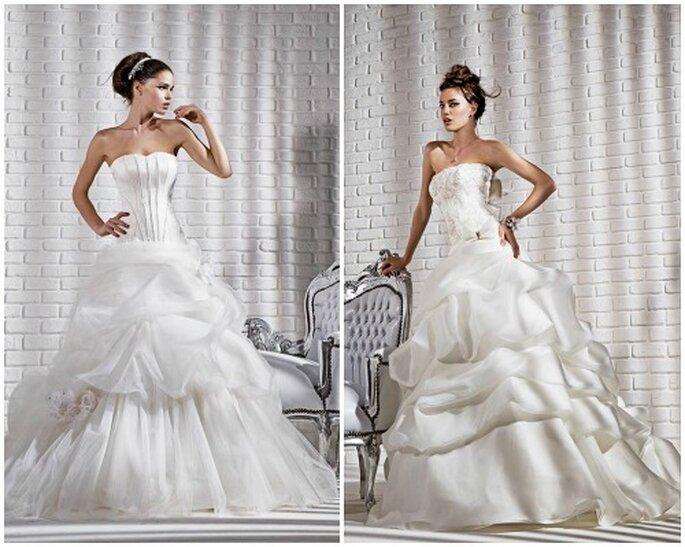 Robe de mariée bustier avec jupe en tulle et organza. Gritti Spose Collection Forever 2013. Photo My Style s.r.l.