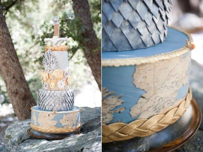 Pastel de bodas inspirado en la serie Game of Thrones - Foto Candice Benjamin