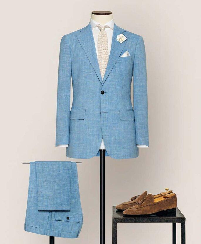 Anzug von Alferano hellblau