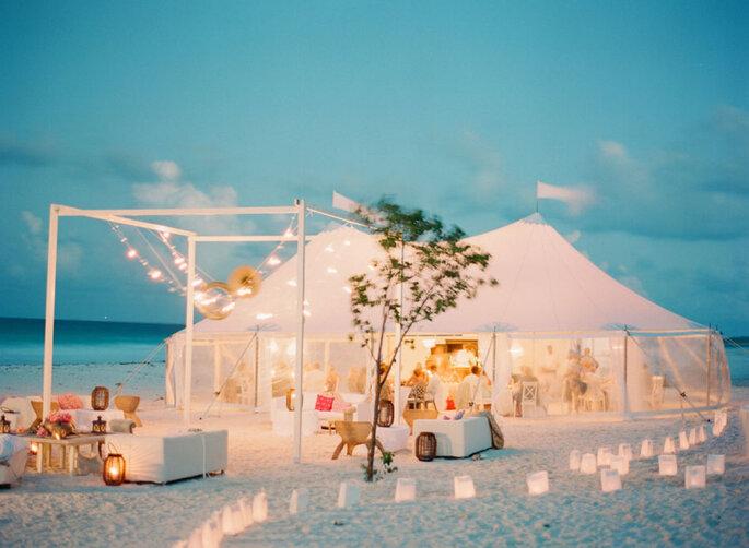 Decoración de boda para playa