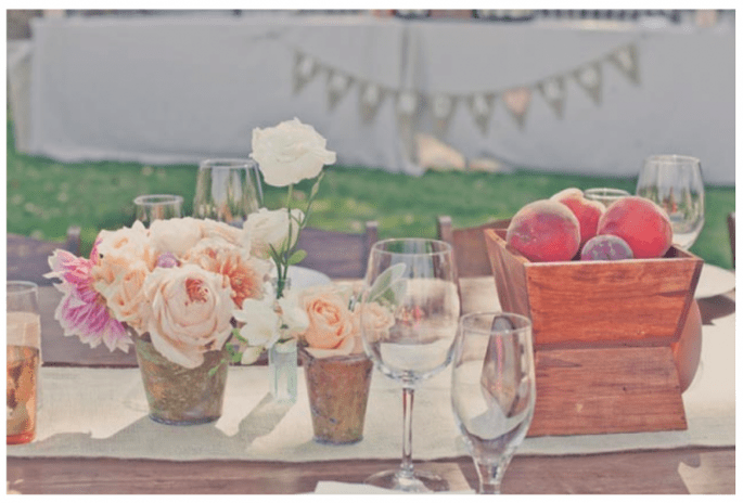 #MartesDeBodas: Decoración de boda en color durazno - Foto One Love Photography