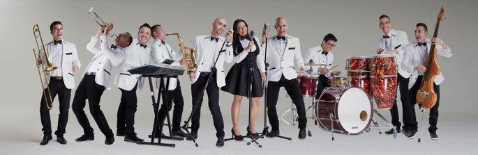 Foto: Los de la Noche Banda en vivo
