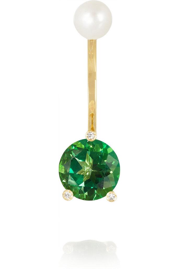 Accesorios para invitada de boda en color verde - Delfina Delettrez en Net a Porter