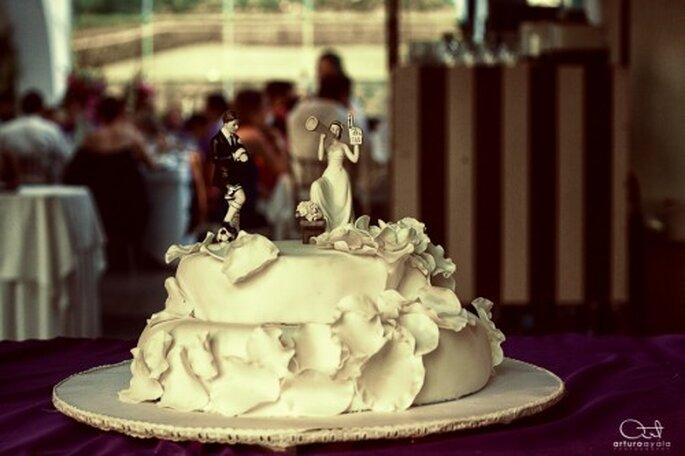 Fotografía artística del pastel de bodas - Foto Arturo Ayala