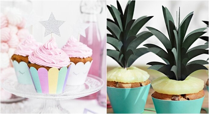 Cupcakes para el candy bar de boda