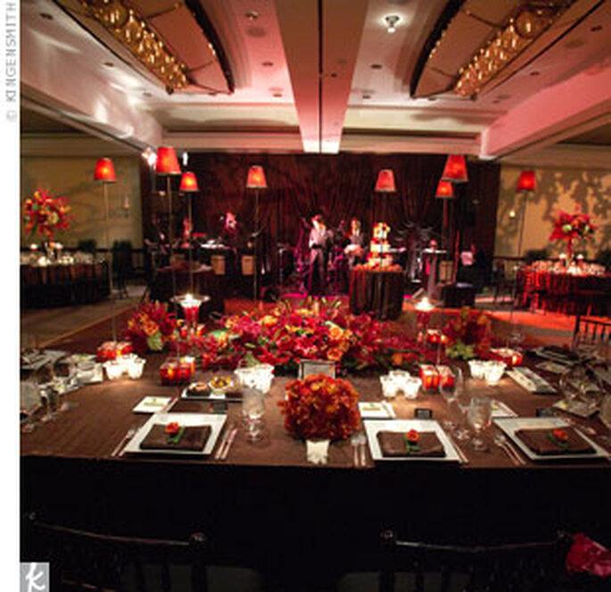 bodas ambientadas en rojo