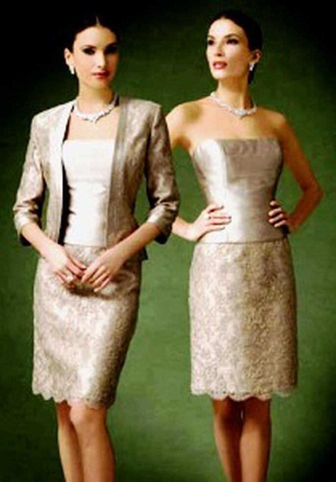 Demetrios 2009 - Ensemble de robe bustier courte et veste à manches 3/4