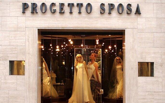 L'entrata da sogno di Progetto Sposa Milano