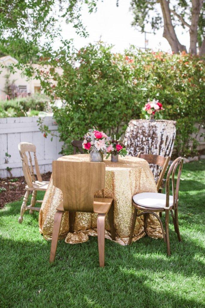 Mobiliario con diseños súper originales para decorar una boda - Foto Jillian Rose Photography