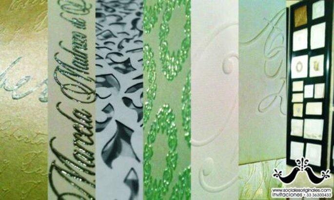 Cantidad extraordinaria de diseños y colores para tus invitaciones de boda - Foto Sociales Originales