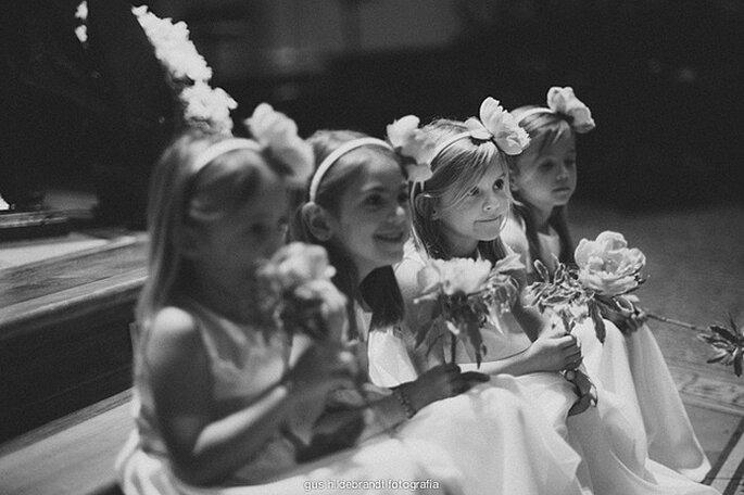 Niños en la ceremonia matrimonial. Foto: Gus Hildebrandt