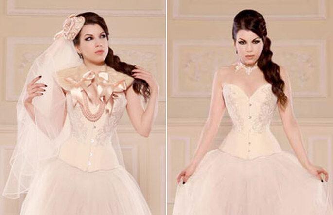 3 Zweiteiliges Brautkleid aus der Kollektion von Maya Hansen