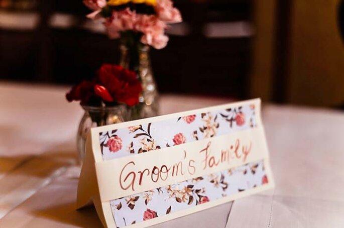 Mesa da família do noivo