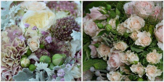 Escoge flores en diferentes tonos rosa para tu ramo Fotos: Verdepimienta