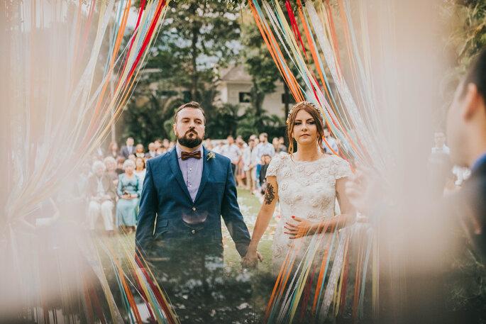 casamento decoração colorida