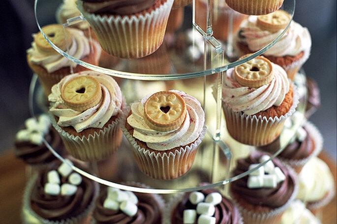 Mini-gâteaux comme centres de table