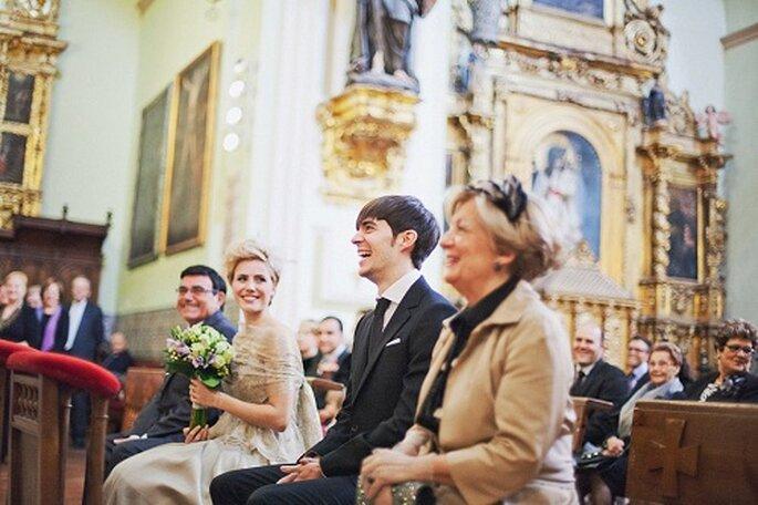 En la ceremonia también hubo momentos divertidos. Foto: Díez & Bordons.