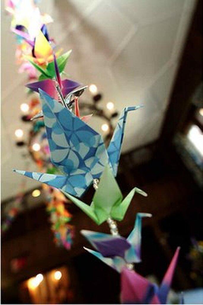 Guirnalda origami de colores