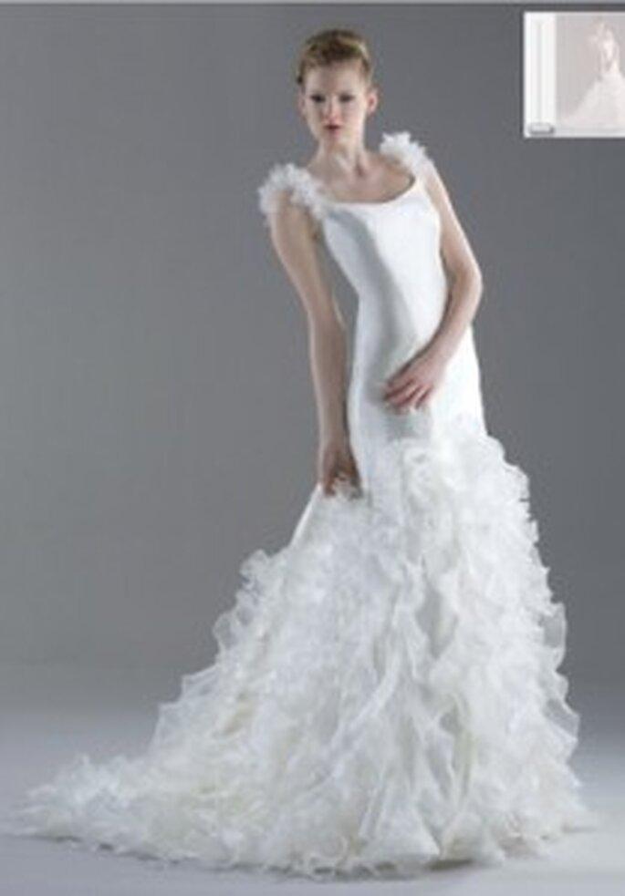 Vestido de novia - Esther Rodríguez - Vestido sirena con volados