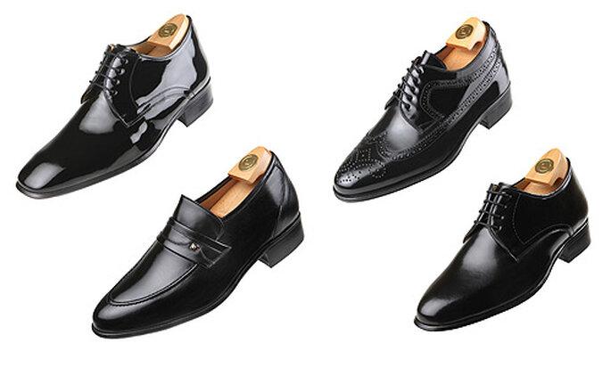 Zapatos con alzas para novios en color negro. Foto: Hiplus