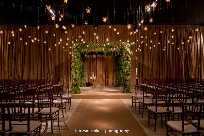 decoração de casamento com luzinhas