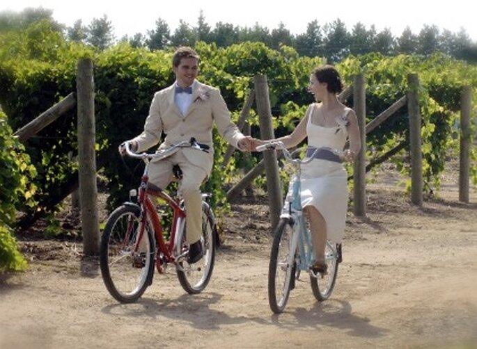 Consejos para una boda sostenible: desplazarte en bici