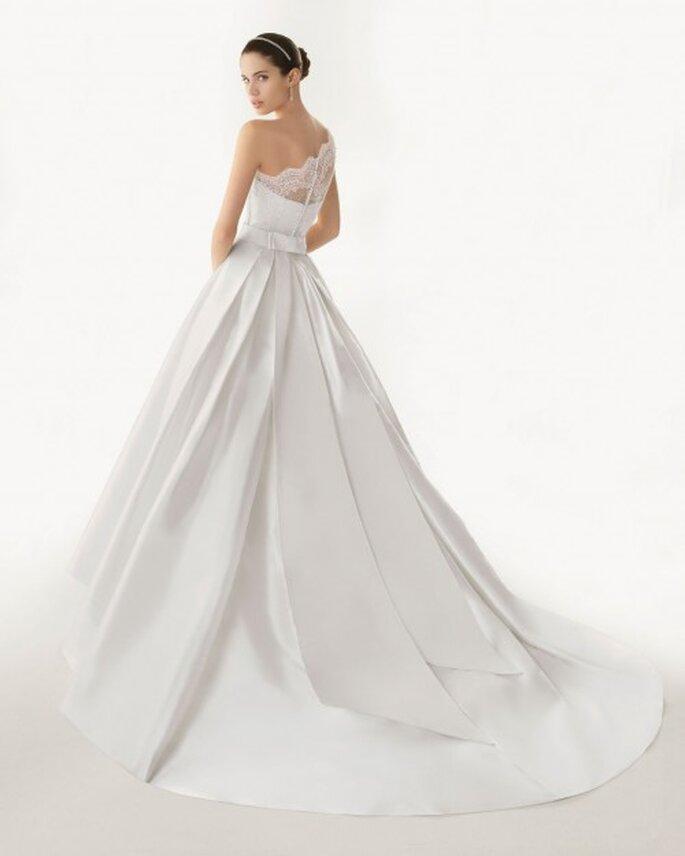 Aspectos que debes saber antes de elegir la cauda de tu vestido de novia. Rosa Clará 2013