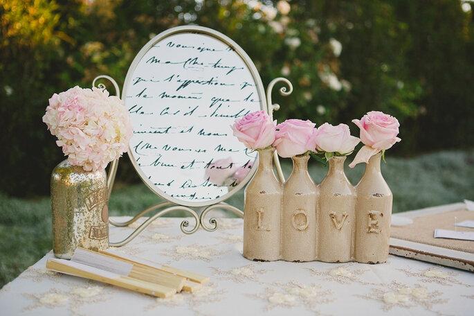 Los colores y detalles vintage en una decoraci n de boda - Detalles para una boda perfecta ...