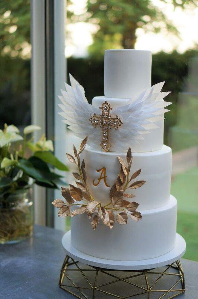 Un délicieux wedding cake confectionné par Persinette Cake Design.