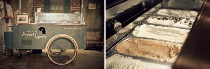 Carros de helado tradicional para tu boda de verano!