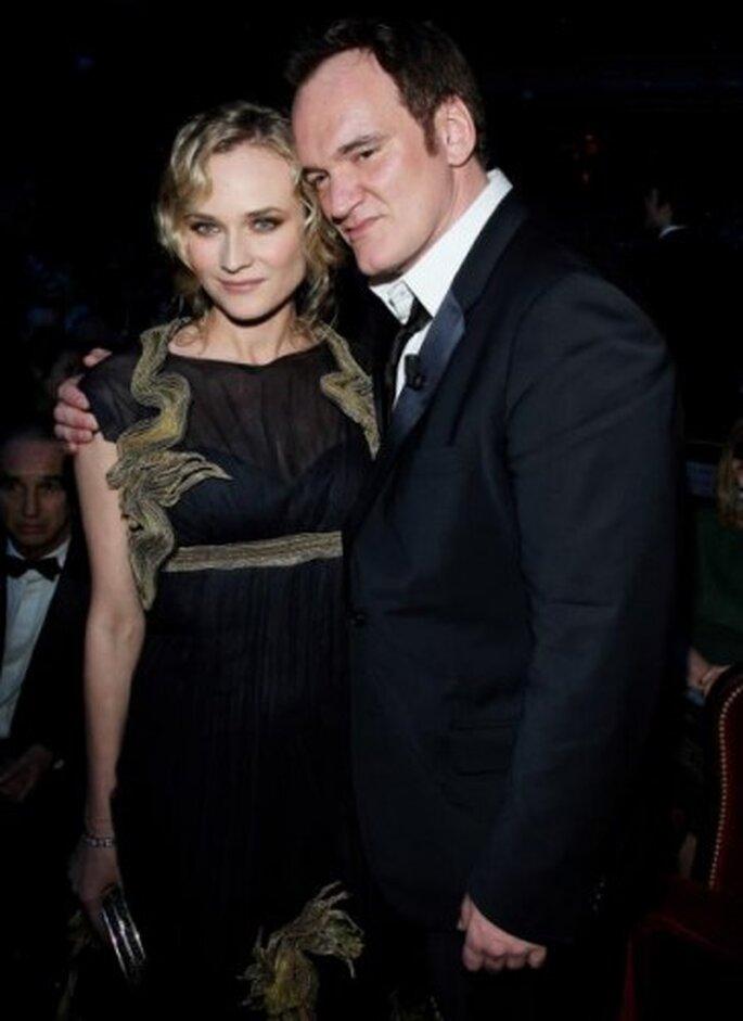 Diane Kruger y Tarantino, Festival de Cannes 2011. Foto de Marc Ausset-Lacroix, Image.net