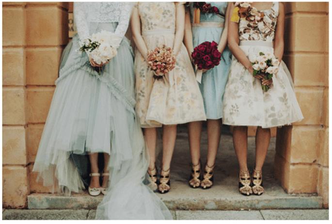Vestidos en tendencia para tus damas de boda 2014 - Foto Samm Blake