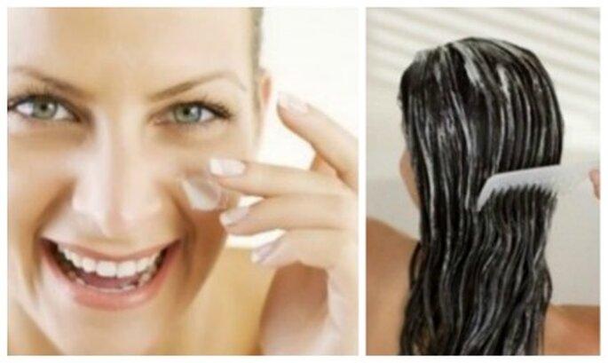 Rostro y cabello al natural con tratamientos naturales