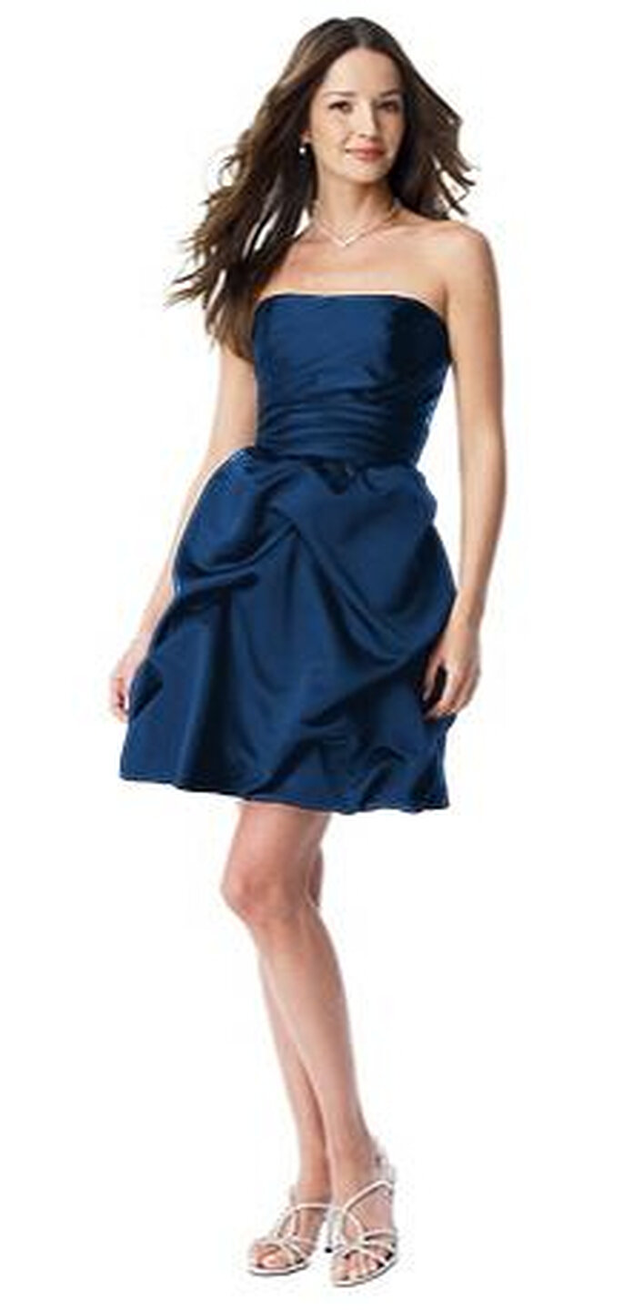 David's Bridal Short Strapless Pick Up Dress - Style 84091, $135.