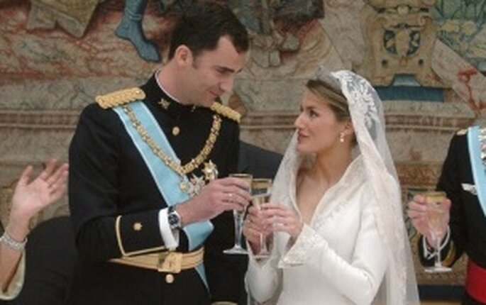 El brindis de la boda entre Letizia y Felipe