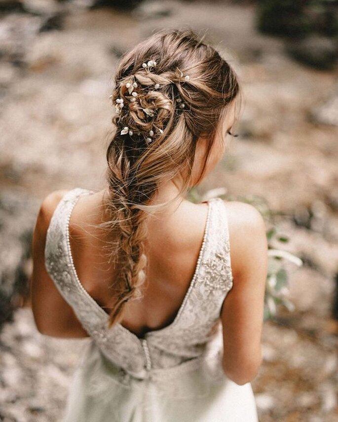 Extensions für Hochzeitsfrisuren mit langen Haaren, Ponytail-Methode