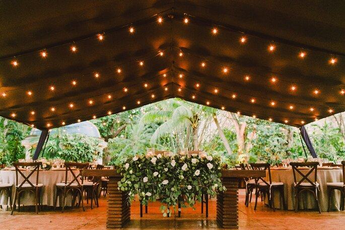 mesa de novios en boda