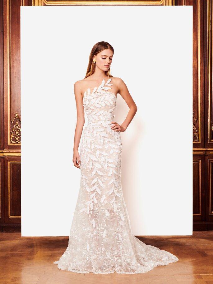 Vestido de novia largo para boda civil