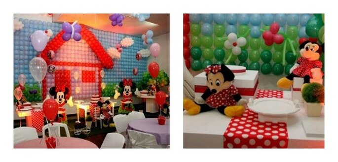 "Fantasia Disney per i loro tavolini, sempre a ""tema"" con i bambini. Foto: pagina Facebook Buffet bambini bambini"