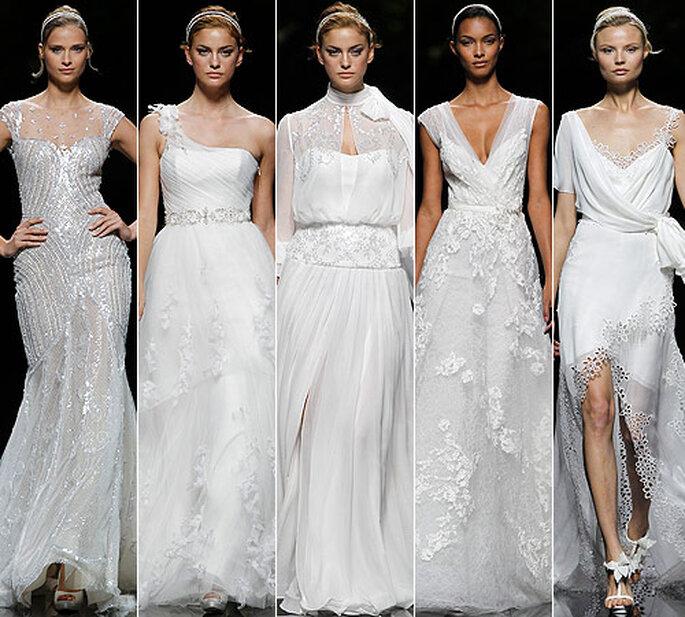 Vestidos de novia de la colección 2013 de Pronovias. Foto: Hugo Cámera