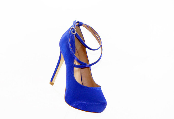 Sapato azul para noivas - Rede Sapato Novo – Foto: Divulgação