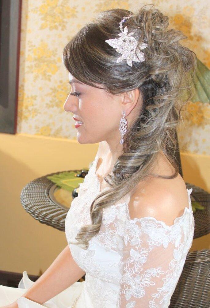 Los detalles con brillos son tendencia en la moda nupcial. Foto: Vidiva Styling
