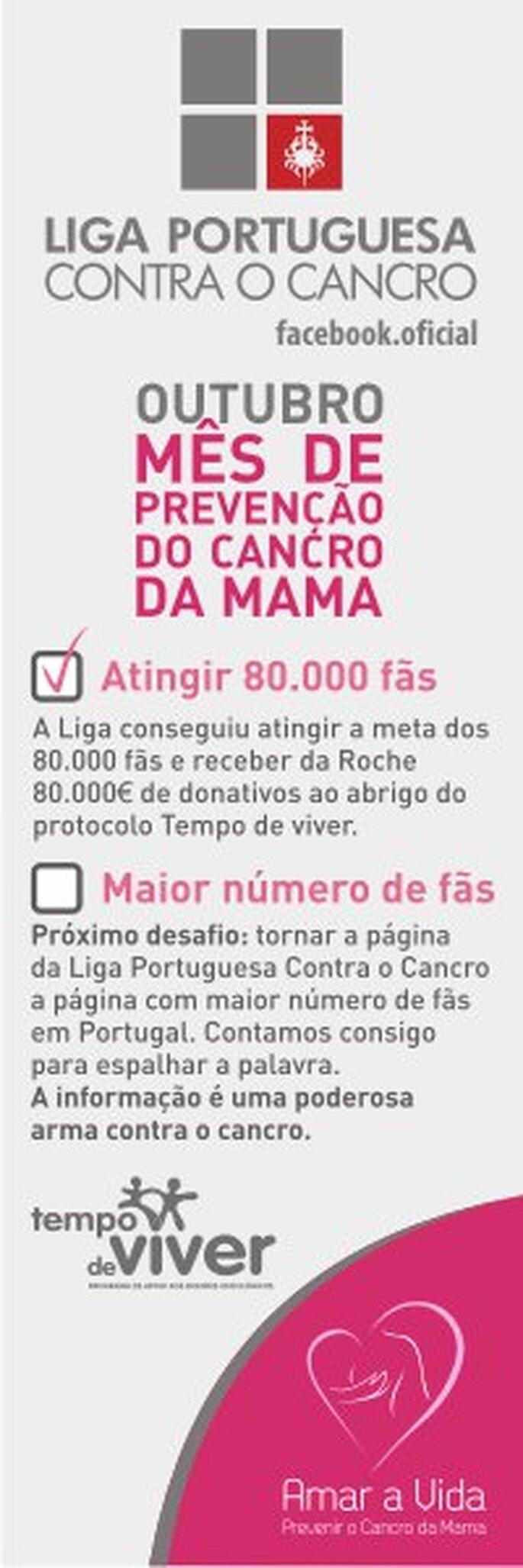 Outubro - Mês de prevenção contra o cancro da mama