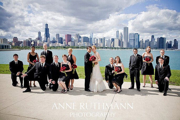 Boda en la ciudad de Chicago, IL. Foto: Anne Ruthmann